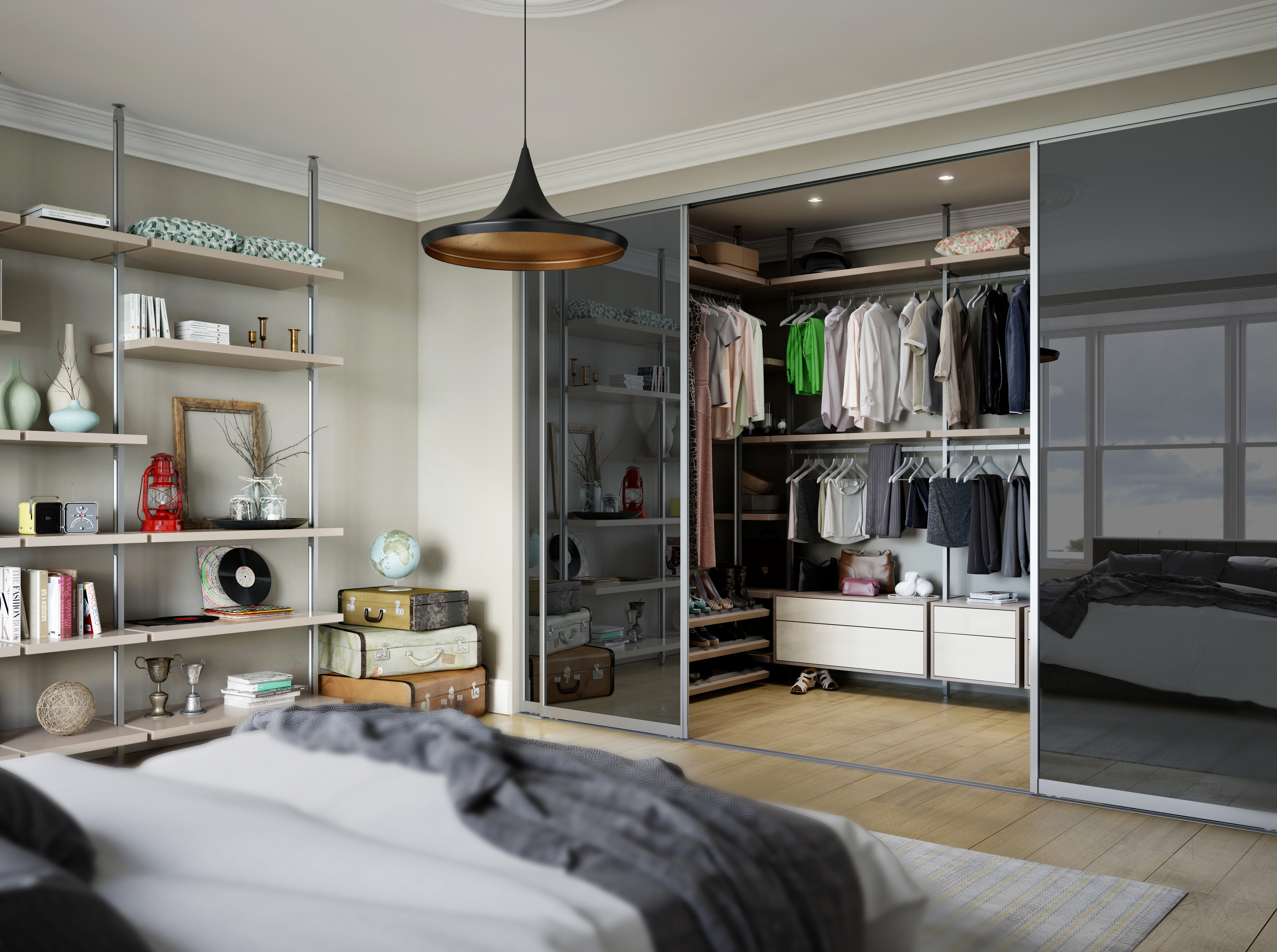 Walk in wardrobe designs how to design your own spaceslide for Create your own bedroom layout