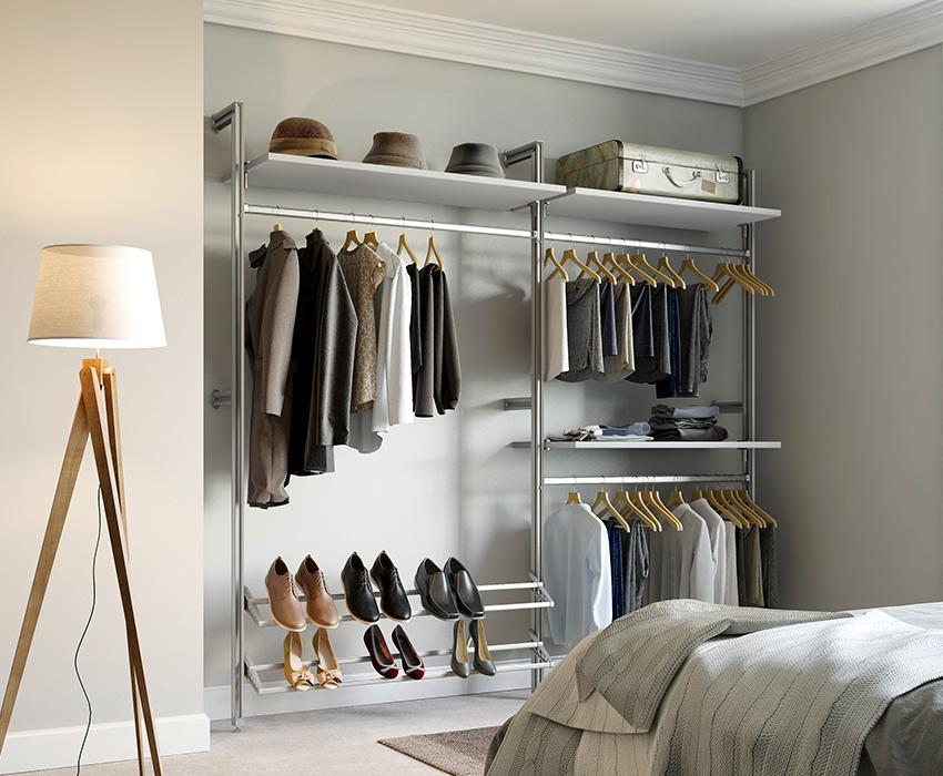 wardrobe storage solutions spaceslide. Black Bedroom Furniture Sets. Home Design Ideas