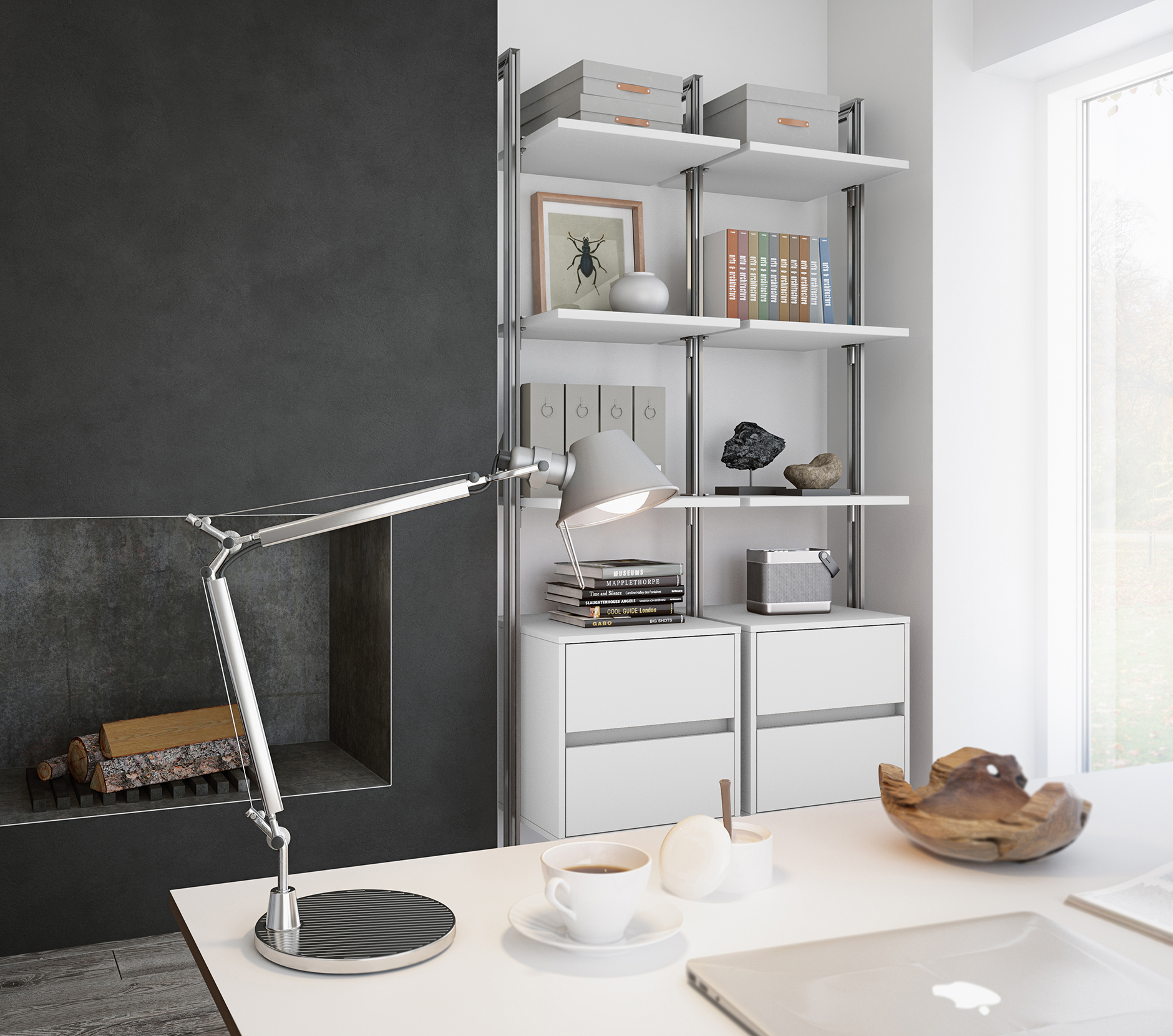 Home office light grey