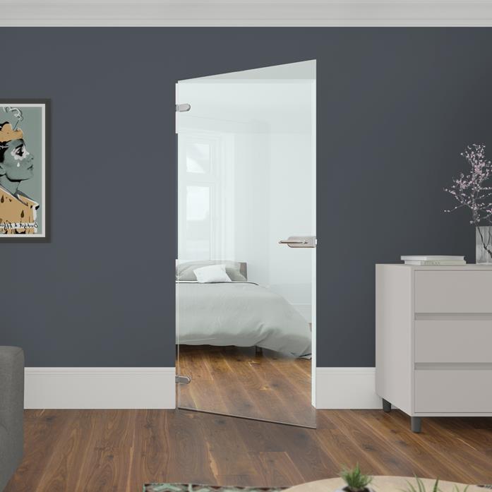 Frosted Bathroom Doors Uk internal glass doors & frameless glass doors | spaceslide