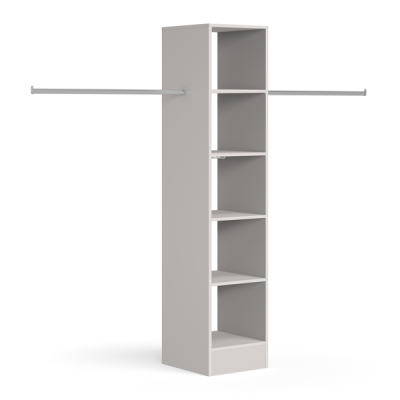 Tower unit 450mm with 5 shelves and 1 hanger bar