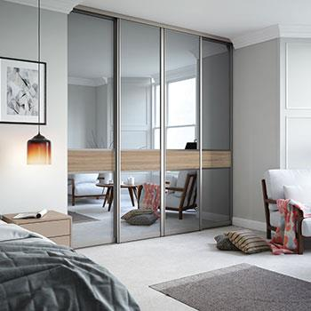 Sliding Wardrobe Doors Sliding Mirror Wardrobe Doors Spaceslide