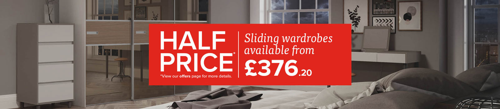 Half price sliding wardrobes